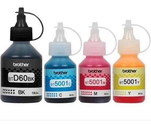 Kit De 4 Tintas Originales Brother -d60bk Bt5001 C M Y