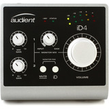 Placa De Audio Usb Audient Id4 Interfaz De Sonido 2 In 2 Out