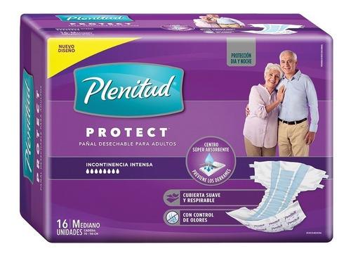 16 Pañales Adulto Plenitud Protect Med, Gde Y Xg