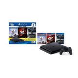 Sony Playstation 4 Slim 1tb Mega Pack: Tom Clancy's Rainbow Six Siege/horizon Zero Dawn/gran Turismo Sport Color  Negro Azabache