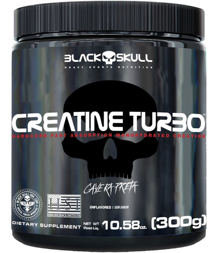 Creatine 300g ( Creatina ) - Caveira Preta - Black Skull