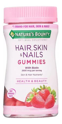 Hair Skin & Nails Gomitas Nature's Bounty 80u Biotina Pelo