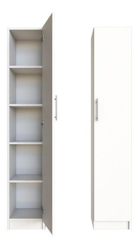 Despensero Cocina 1 Puerta 1.80m Organizador Blanco