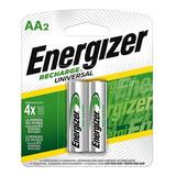 Pilas Recargables Energizer Aa  2000 Mah. Blister X2