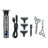 Kit De Afeitadora Eléctrica Con Bivolt Led A