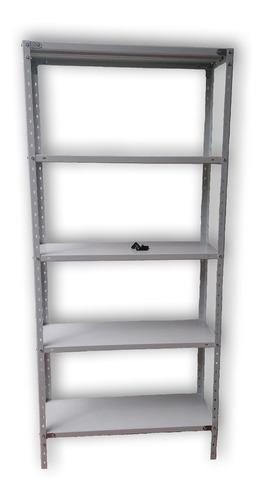 Estantería Metálica 60x30x200 5 Estantes Para 40kg Blanco