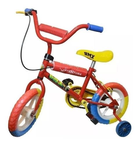 Bicicleta Rodado 12 Bmx Nena Nene Varon Mujer Niño Niña Rueditas Reforzada Liviana Colores Envios Happy Buy