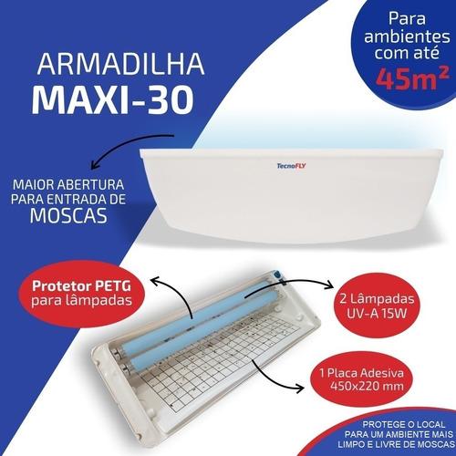 Armadilha Luminosa Max 30 Pega Mata Mosca Mosquitos Insetos