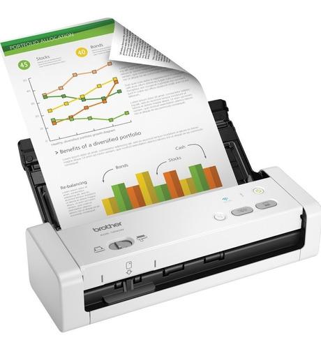 Escaner Compacto Brother Ads1250w Doble Faz 50 Ipm Usb Wifi