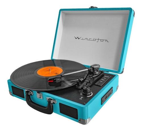 Tocadiscos Bluetooth Graba Vinilo A Usb Wincofon Winco W-406