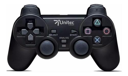 Control De Juegos Unitec Usb Pc Motor Vibración Dualshock