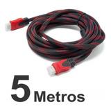 Cable Hdmi 5 Metros Doble Filtro Mallado Punta Dorada Nuevo