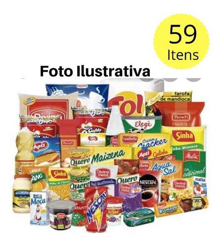 Cesta Básica Completa- 59 Itens ( Produtos Bons) *envio Imed