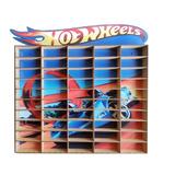 Estante Porta Hot Wheels Para 50 Carrinhos Mdf Adesivado