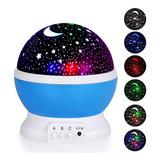 Velador Luz De Noche Proyector De Estrellas Giratorio Recarg