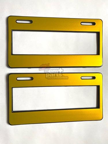 Par (2) Porta Placas Ancho Universal Estilo Colores Euro