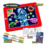 Pizarra Mágica Deluxe Niños Magic Pad Led Tablero Educativo