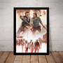Poster Moldura The Walking Dead Rick Vs Negan Quadro Zumbi Original