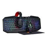 Kit Gamer Noga Teclado+mouse+auricu+pad Comb 4en1 Nkb403 Rgb