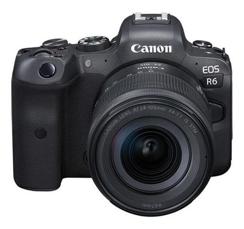 Cámara Canon Eos R6 Mirrorless Con Lente 24-105 Mm F/4-7.1