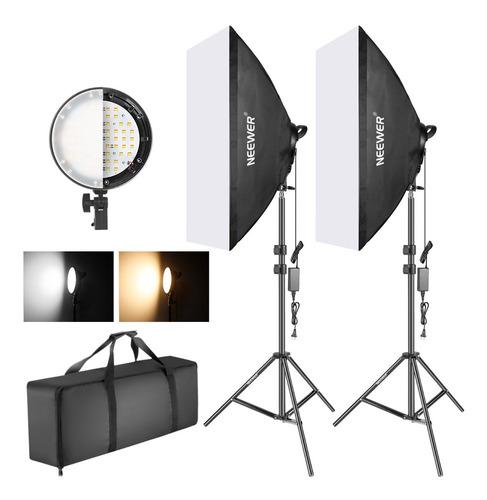 Neewer 50x68cm Fotografía Led Softbox 45w Kit De Iluminación