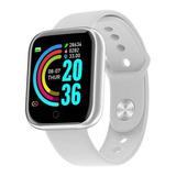 Smartwatch Smart Bracelet D20 D20 D20 1 1.3  Caixa De  Plástico  Prata Pulseira De  Silicone D20
