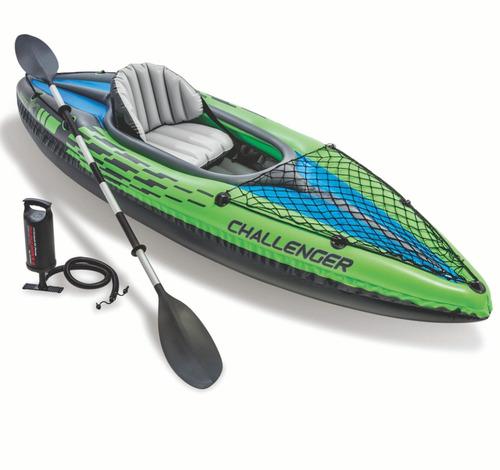 Botes Kayak Challenger Inflable 1 Persona Intex