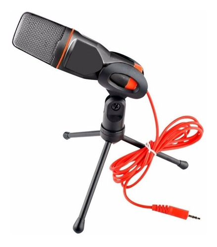 Micrófono Condensador Podcast Con Tripode Para Pc Notebook E