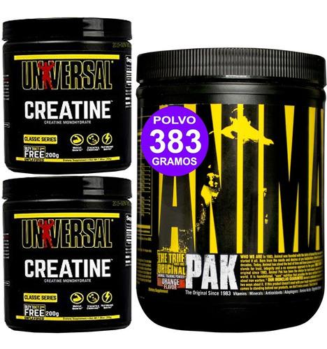 Fuerza Crecimiento Animal Pak + Creatina 400 Grs Universal