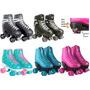Patins Glitter Quad Roller Ajustável Fenix  5 Cores Original