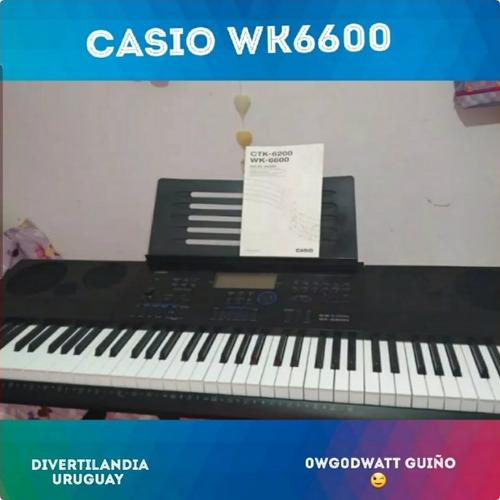 Oportunidad!! Teclado Casio Wk 6600 6 Octavas Alta Gama!!