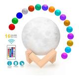 Lampara Luna 16 Colores Control Velador Escritorio 3d Xl Pro