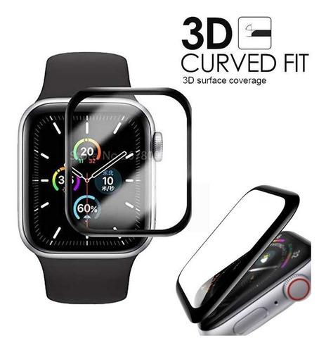 Vidrio Templado Curvo 3d Apple Watch 38 40 42 44 Mm Premium