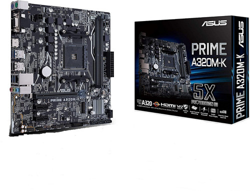 T. Madre Asus Amd A320 Prime Am4 Ddr4 A320m-k