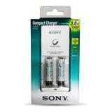Cargador Sony Aa/aaa + 2 Pilas Aaa 900mh Recargable Obelisco