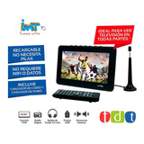 Televisor Lcd Portatil Recargable Con Control Y Antena Tdt