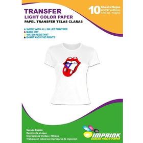 Papel Transfer Premium Telas Claras A4/10hojas Inkjet