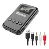 Transmisor/receptor Bluetooth 5.0 Lcd Para Pc, Tv, Bocina