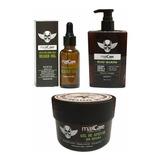 Shampoo De Barba + Gel De Afeitar S/espuma +  Aceite Maxcare