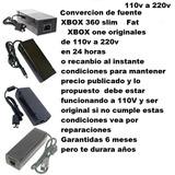Fuente Xbox Convertí  De 110v A 220v Tu Fuente Xbox
