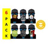 6 Bandanas Face Shield Cubre Boca Cuello Nariz Proteccion