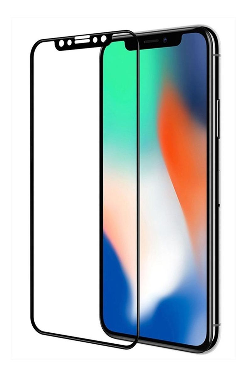 VIDRIO TEMPLADO 4D IPHONE X/XS / 11 PRO NEGRO