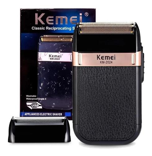 Afeitadora Shaver Kemei Km-2024 Recargable Usb + Cabezal