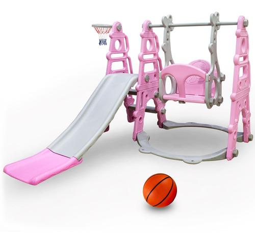 Tobogán Infantil + Hamaca + Aro Basket + Pelota Niño Niña