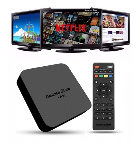Tv Box 8gb Ram 1gb Quad Core Convierte Tv A Smart Tv Android