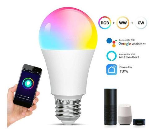 Control Wifi, Bombilla Led Inteligente, Foco De Color (9w).