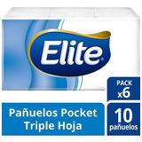Pañuelos Descartables Elite Pack X6 Con Extracto De Seda