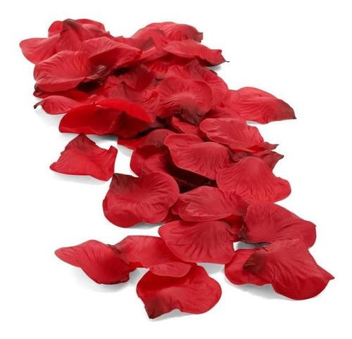 Pétalos De Rosa Artificiales Tela Rojo Blanco 160 Uni Aprox