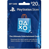 Tarjeta Psn 20 Usd Playstation Gift Card Ps4 Ps3 Disponible