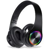 Audífonos Inalámbricos Bluetooth Con Luz Led, Negro